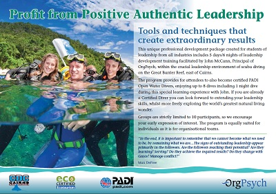 Profit from Positive Authentic Leadership